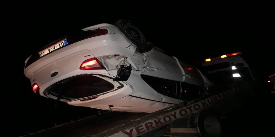 Yerköy'de Trafik Kazası 1 Yaralı