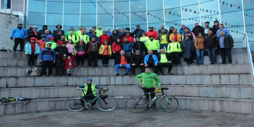 4. Düzce Bisiklet Festivali Katılımcıları Düzce Üniversitesi'ne Konuk Oldu