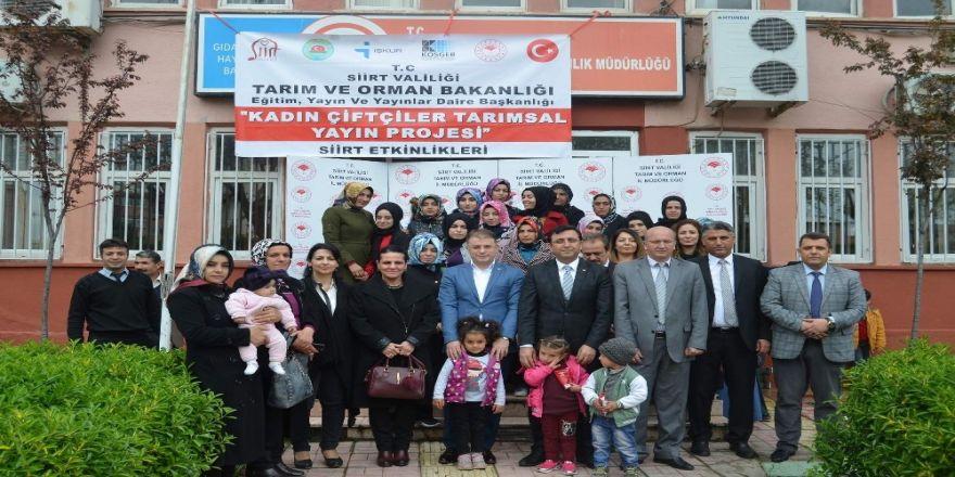 Siirt'te Kadın Çiftçilere Yönelik Uygulamalı Girişimcilik Eğitim Programı Başladı