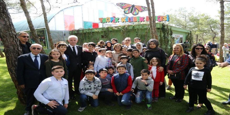 Türkiye'nin İkinci Tropik Kelebek Bahçesi Açıldı