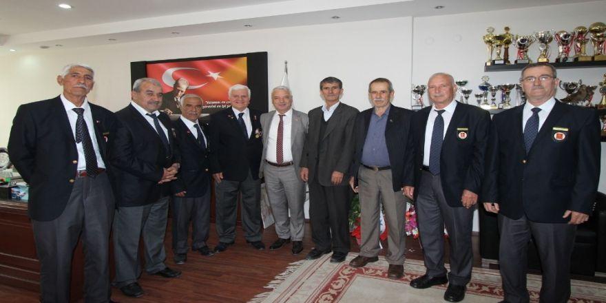 Kıbrıs Gazilerinden Başkan Bilgin'e Tebrik Ziyareti