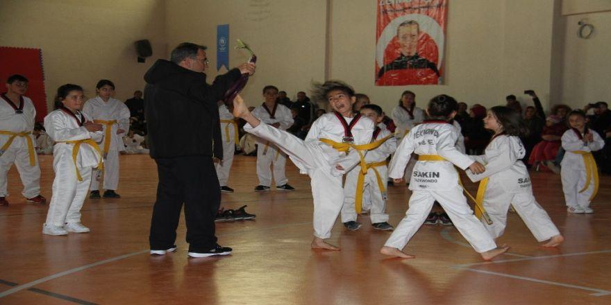 Beyşehir'de Tekvando Kuşak Terfi Sınavı Heyecanı