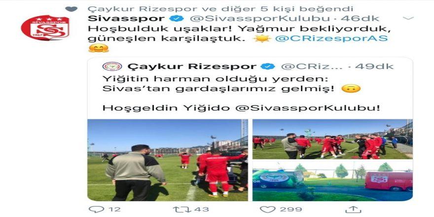 Sivasspor-çaykur Rizespor Maçı Öncesi Dostluk Mesajları