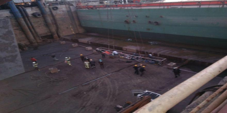 Tuzla'da Bir Tersanede İskelenin Halatı Koptu: 5 İşçi Yaralı