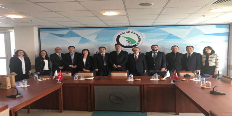 Çin'in Shangai Lixin Muhasebe Ve Finans Üniversitesi İle İş Birliği İmkânları Konuşuldu