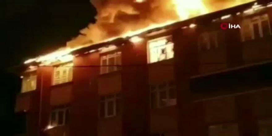 Sultanbeyli'de Yangın Sırasındaki Patlama Anı Kamerada