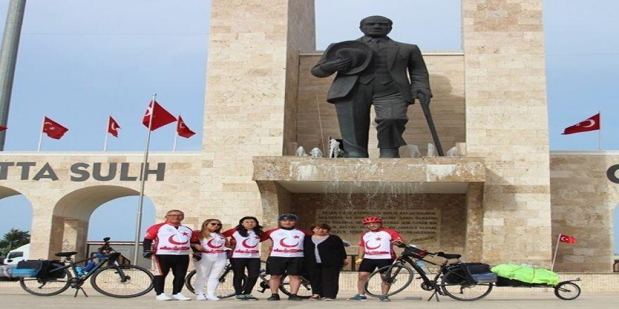 Bisikletçiler Didim'den Samsun'a Pedal Basacak