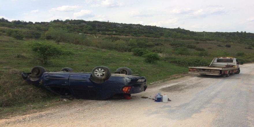 Trafik kazası; 2 yaralı