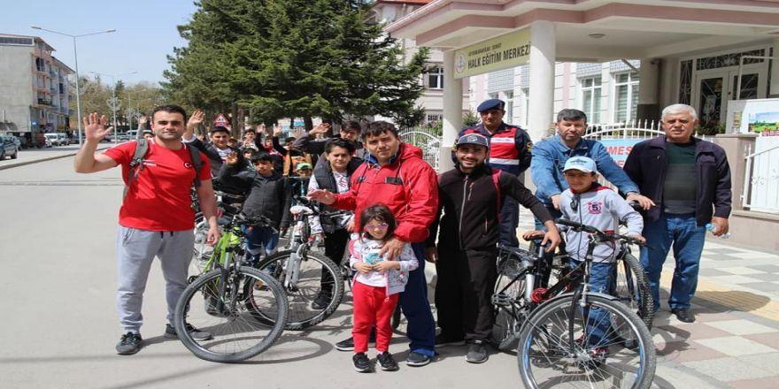 Şehit piyade er Mesut Akpınar anısına bisiklet turu