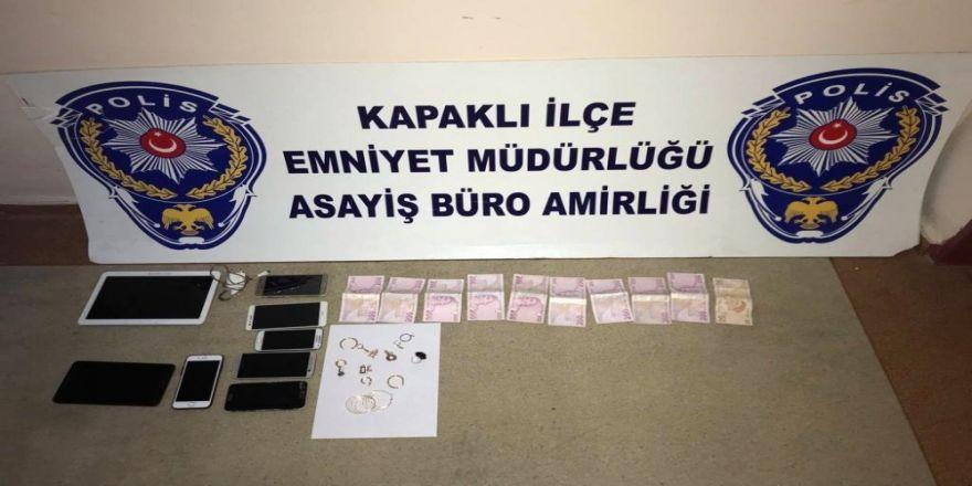 Tekirdağ'da 20 Bin Liralık Altın Çalan İki Hırsız Yakalandı