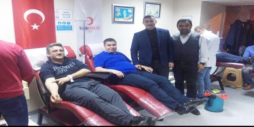 Ak Parti Teşkilatlarından Kızılay'a Kan Bağışı