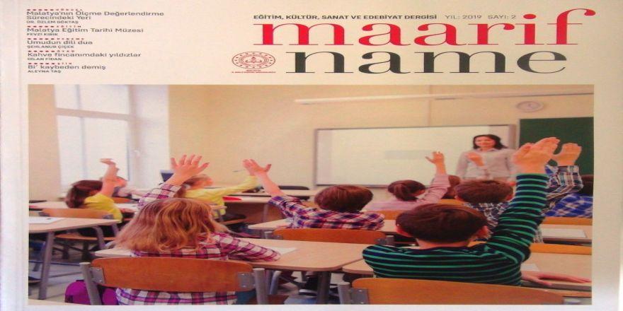 Milli Eğitimden Kültür Sanat Dergisi