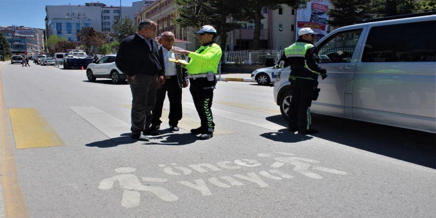 Van'da 'Trafikte Yaya Önceliği' Bilinçlendirme Çalışması
