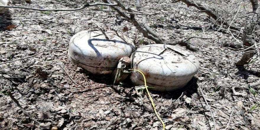 5 odalı sığınak ve 60 kiloluk patlayıcı imha edildi