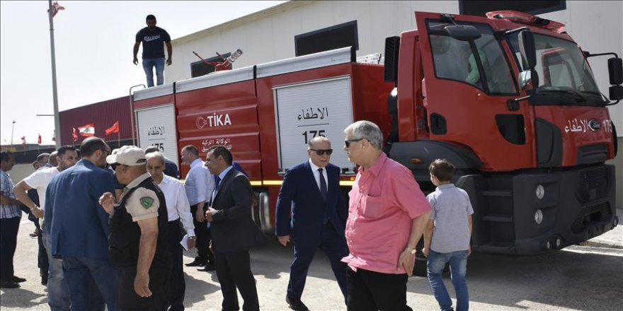 TİKA'dan Lübnan'a itfaiye aracı hibe edildi