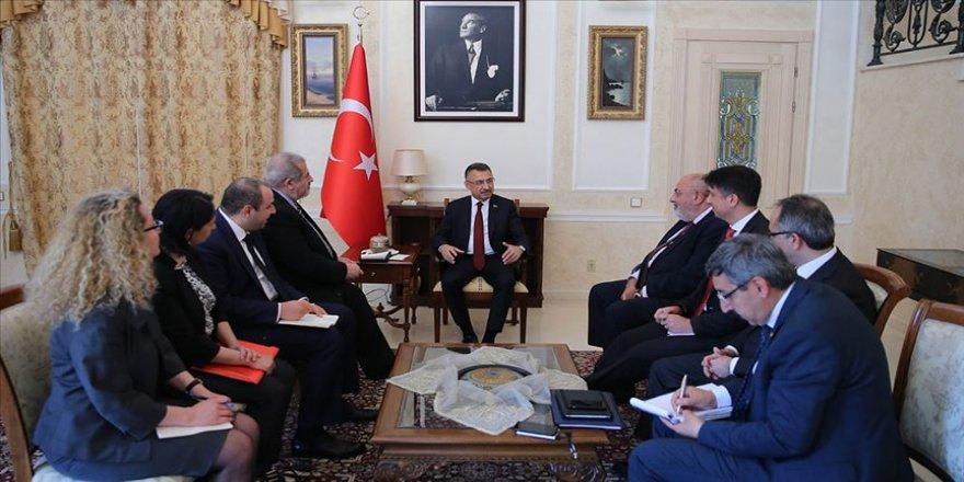 Cumhurbaşkanı Yardımcısı Oktay Ukrayna'da Gagauz ve Ahıska Türkleri ile Kırım Tatarlarını kabul etti