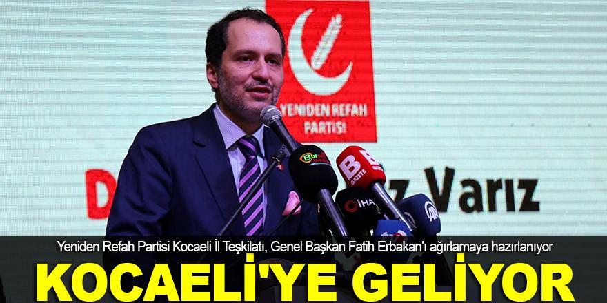 Fatih Erbakan, Kocaeli'ye geliyor