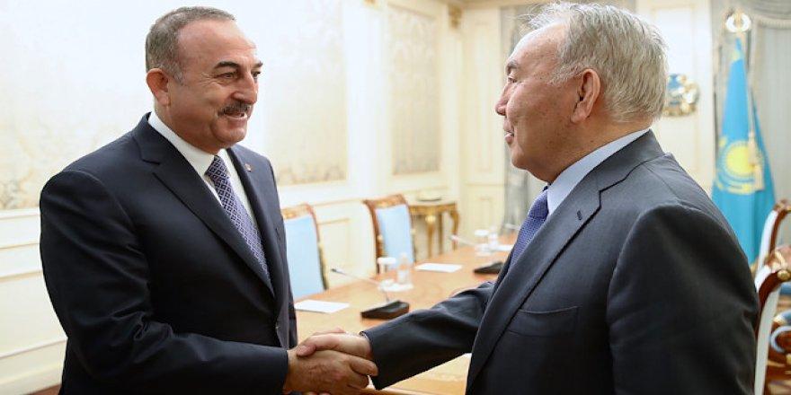 Çavuşoğlu, Nazarbayev ile görüştü