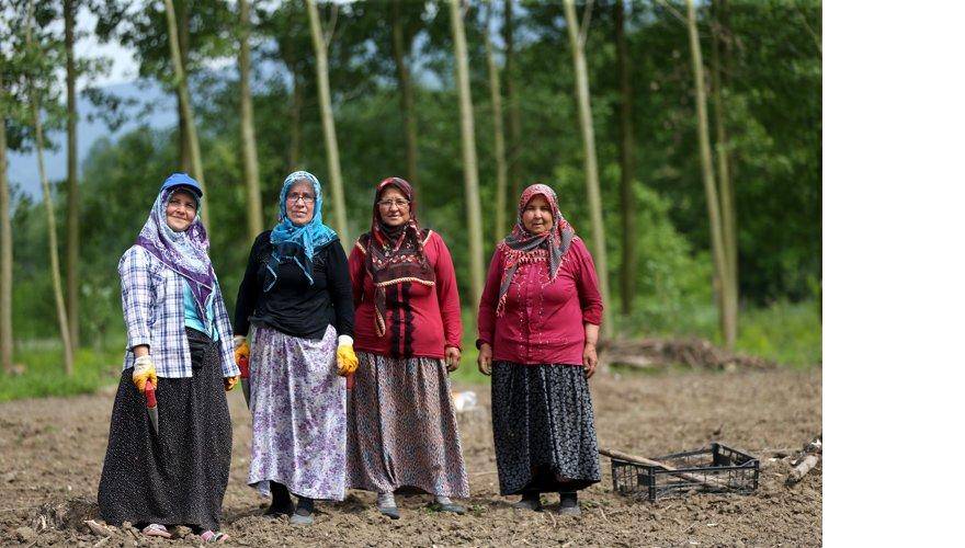 Köylü kadınlardan bilime imece usulü 'destek'