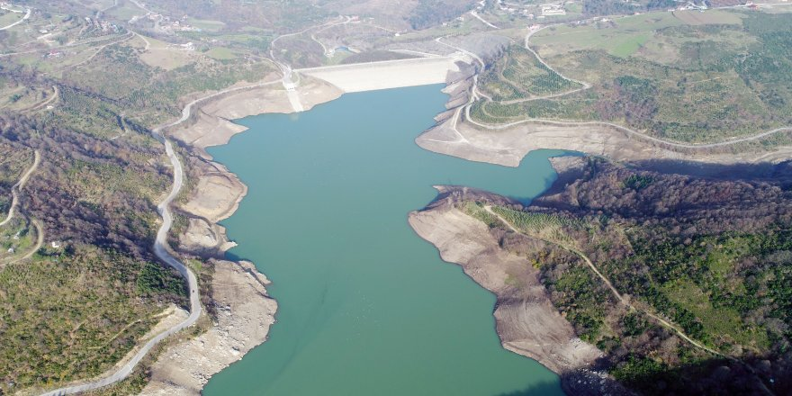 Yuvacık Barajı'nda seviye yarıya düştü