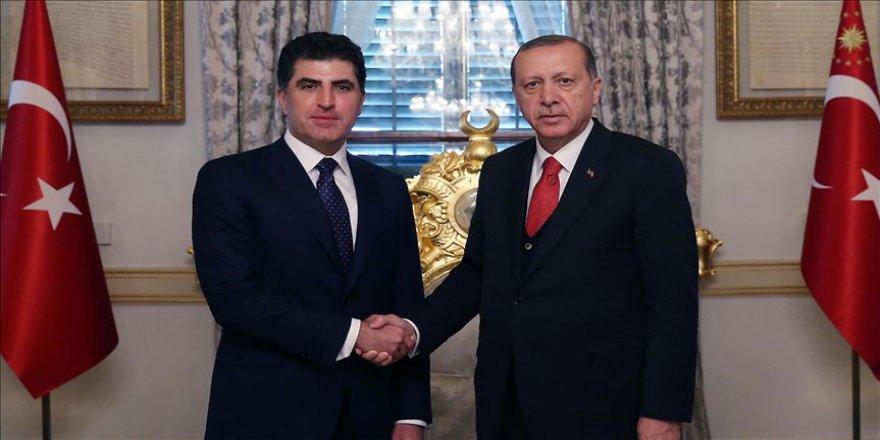 Erdoğan'dan Barzani'ye tebrik telefonu