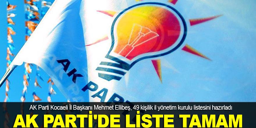 AK Parti'de liste tamam