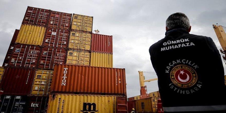 1,1 milyar liralık kaçakçılık gümrüğe takıldı
