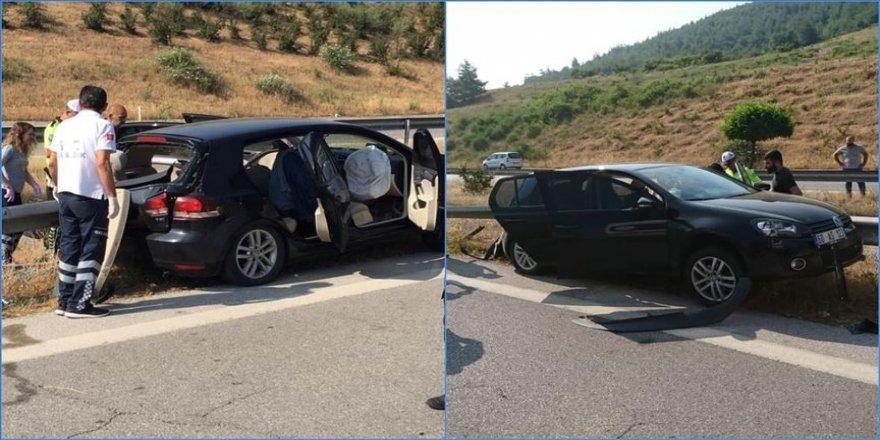Askerlerin bulunduğu otomobil kaza yaptı: 2 ölü, 1 yaralı