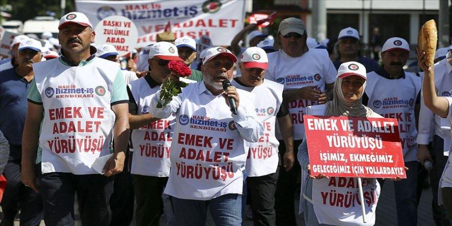 Hak-İş ve Hizmet-İş Genel Başkanı Arslan: Yürüyüşümüz mücadelemizin bir parçası, sonu değil