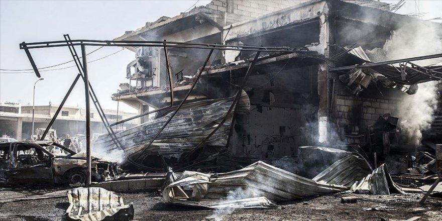 YPG/PKK'nın sözde asayiş binasının önünde saldırı