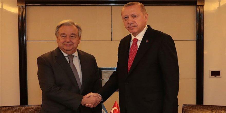 Erdoğan ile BM Genel Sekreteri telefonda görüştü