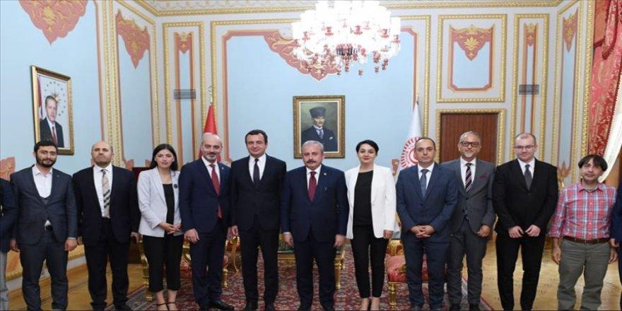 Şentop, Vetevendosje Hareketi Lideri Kurti'yi kabul etti