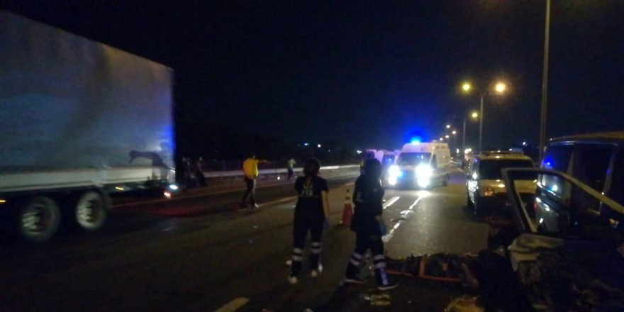 TEM Otoyolu'nda kaza