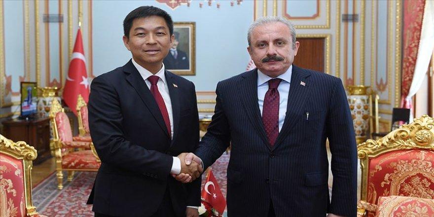 TBMM Başkanı Şentop, Singapur Parlamento Başkanı Chuan Jin ile görüştü