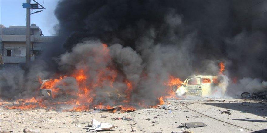 Azez'de art arda iki patlama
