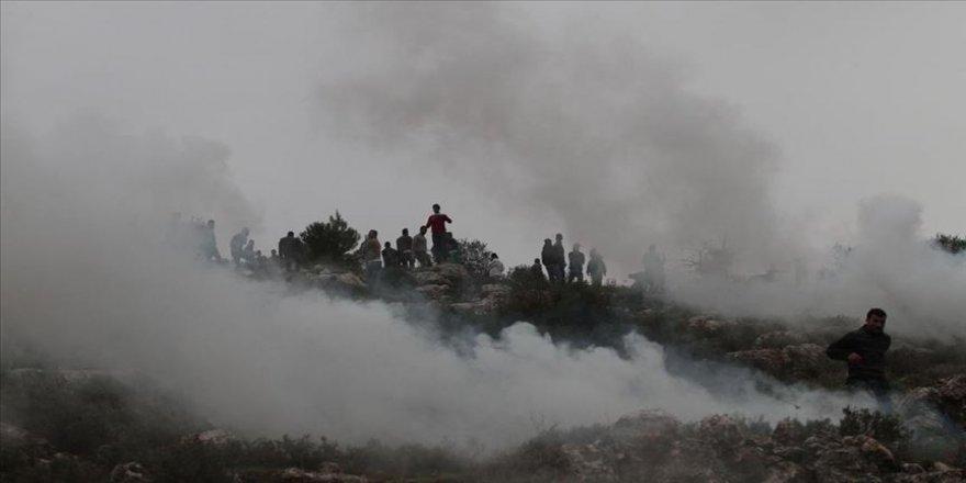 Yahudi yerleşimciler Filistinlilere ait yüzlerce zeytin ağacını ateşe verdi
