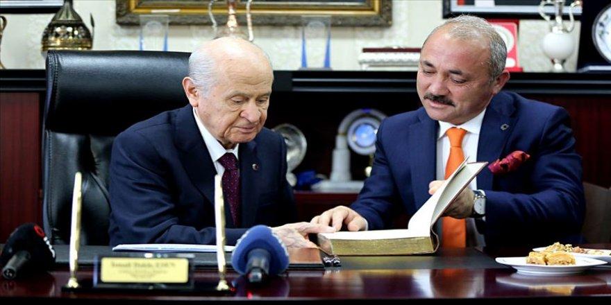 MHP Genel Başkanı Bahçeli Çankırı Belediyesi'ni ziyaret etti