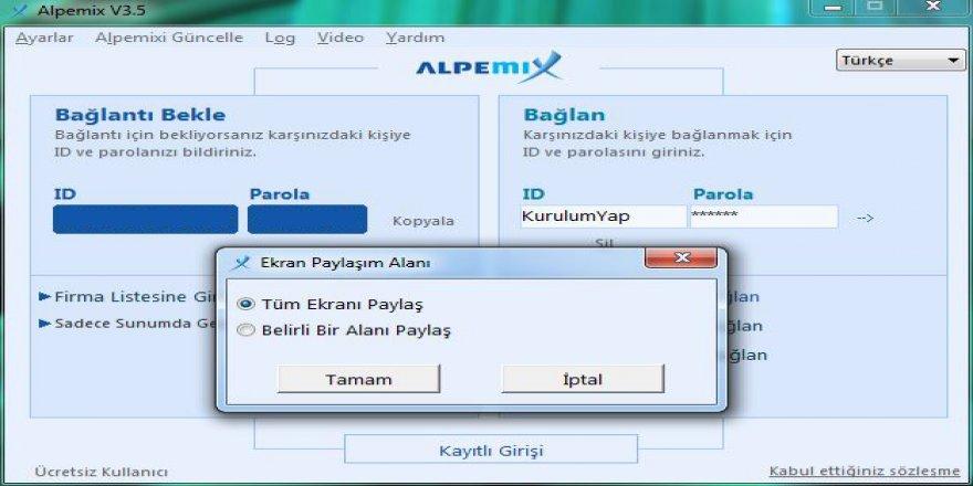 En Kolay uzak bağlantı Programı Alpemix İncelemesi
