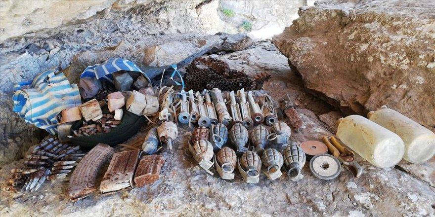PKK'lı teröristlere ait mühimmat bulundu