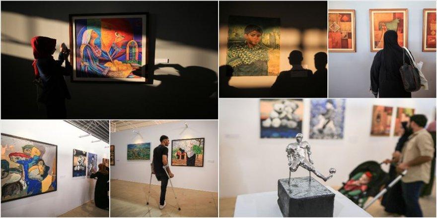 Gazze'de işgalin acılarını anlatan modern sanat sergisi