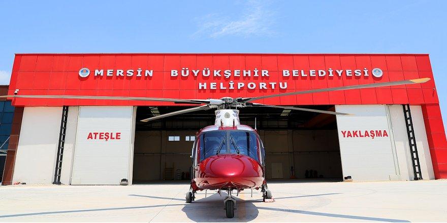 Mersin'de hava taksi hizmete girdi