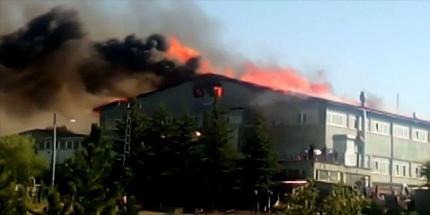 Konya'da silah fabrikasında yangın