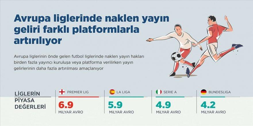 Avrupa liglerinde naklen yayın geliri faklı platformlarla artırılıyor