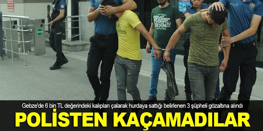Kalıp hırsızları polisten kaçamadı
