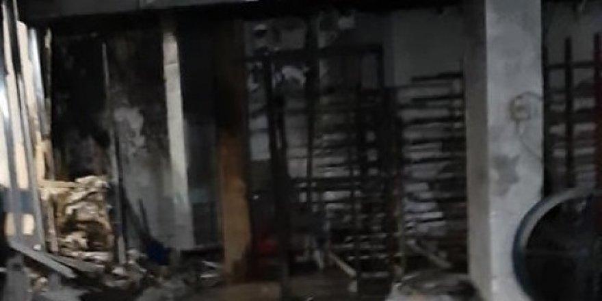 Ahmet Durak'ın iş yerinde yangın çıktı