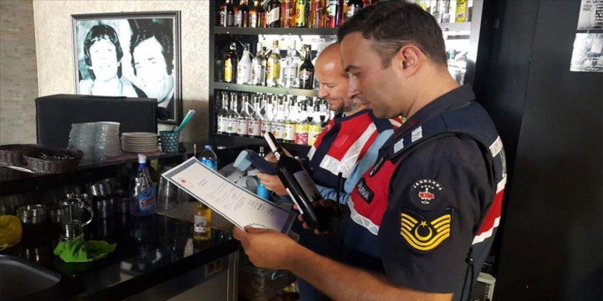 Jandarmadan ülke genelinde kaçak ve sahte alkol uygulaması