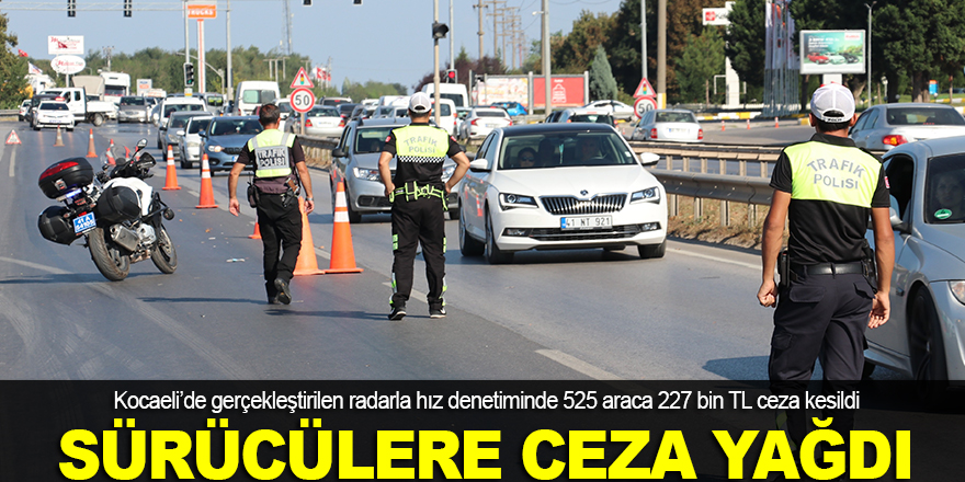 Kocaeli'de sürücülere ceza yağdı