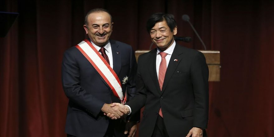 Çavuşoğlu'na 'Japonya'nın en yüksek nişanı' takdim edildi
