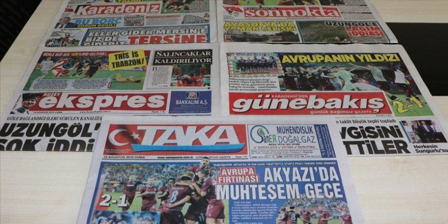 Trabzon yerel basınında Sparta Prag galibiyeti