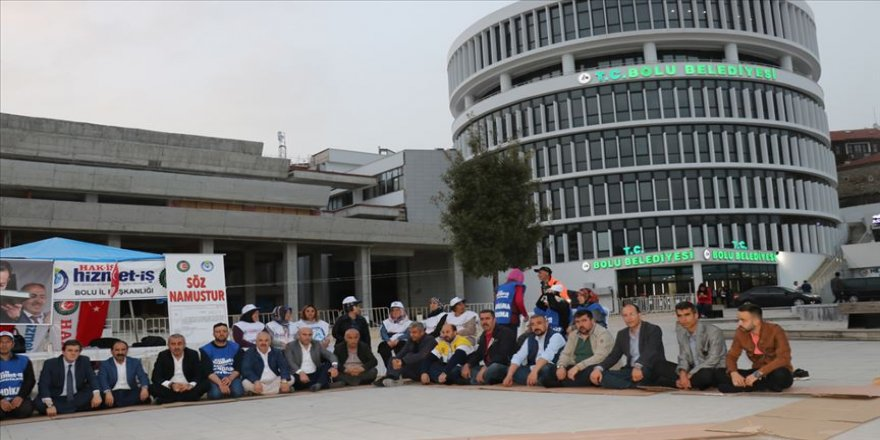 Bolu Belediyesine 'işçiler göreve iade edilsin' mektubu